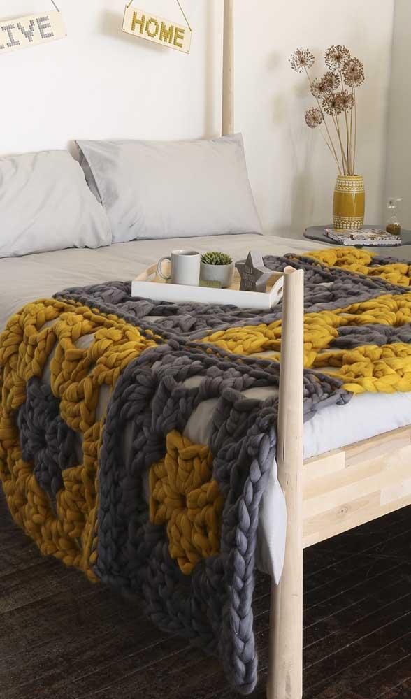 Já viu maxi crochê desenhado? Então preste atenção nesse modelo