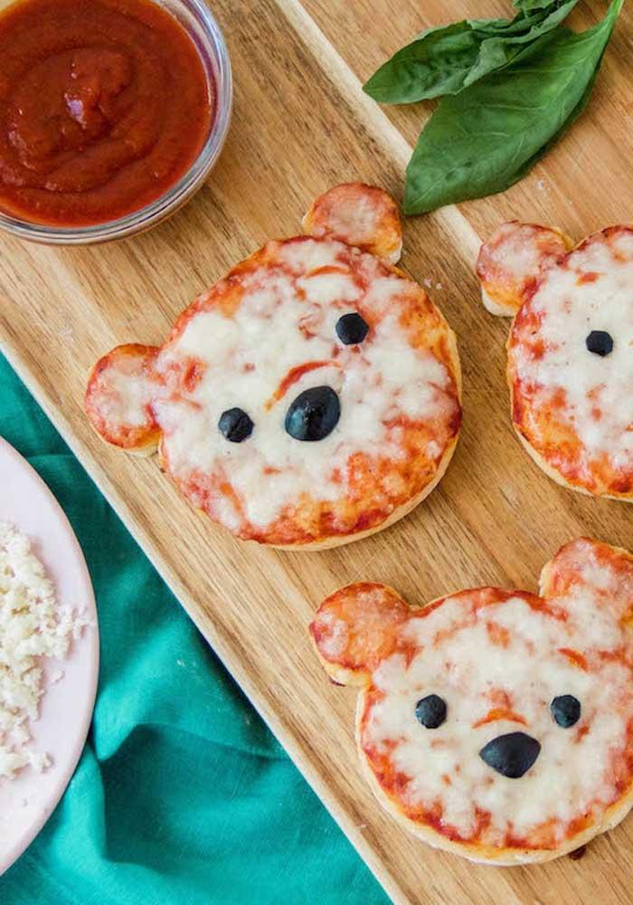 Que tal pizzas com carinha de urso?
