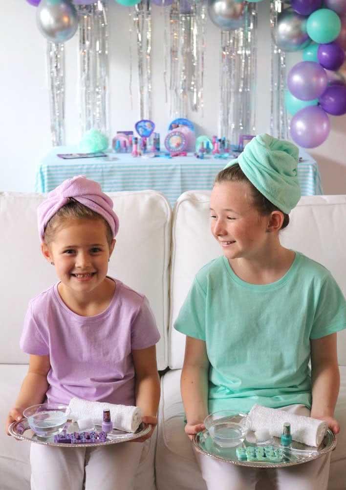Festa infantil Spa Day: deixe as garotas se divertirem!