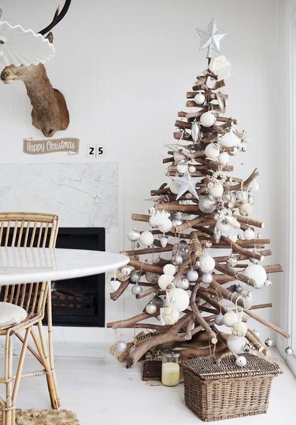 Árvore de Natal de galho seco