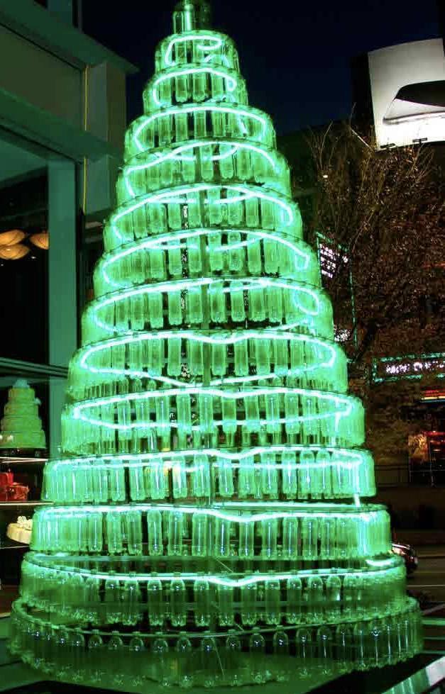 Árvore de Natal de garrafa pet.