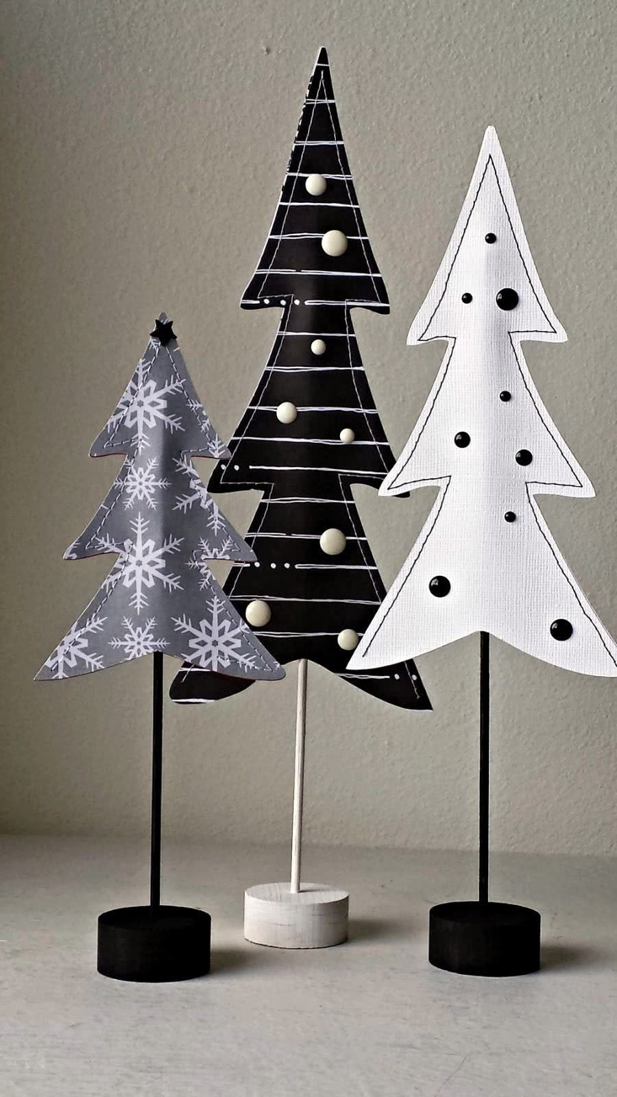 Árvore de Natal de tecido.