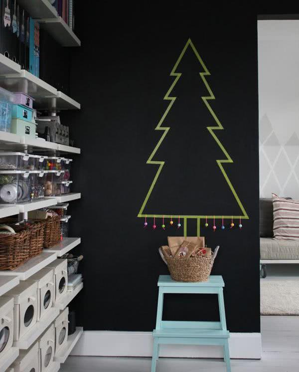 Árvore de Natal simples de fazer.