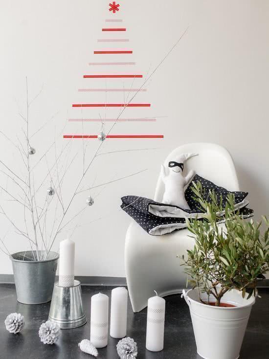Árvore de Natal de adesivo de parede.