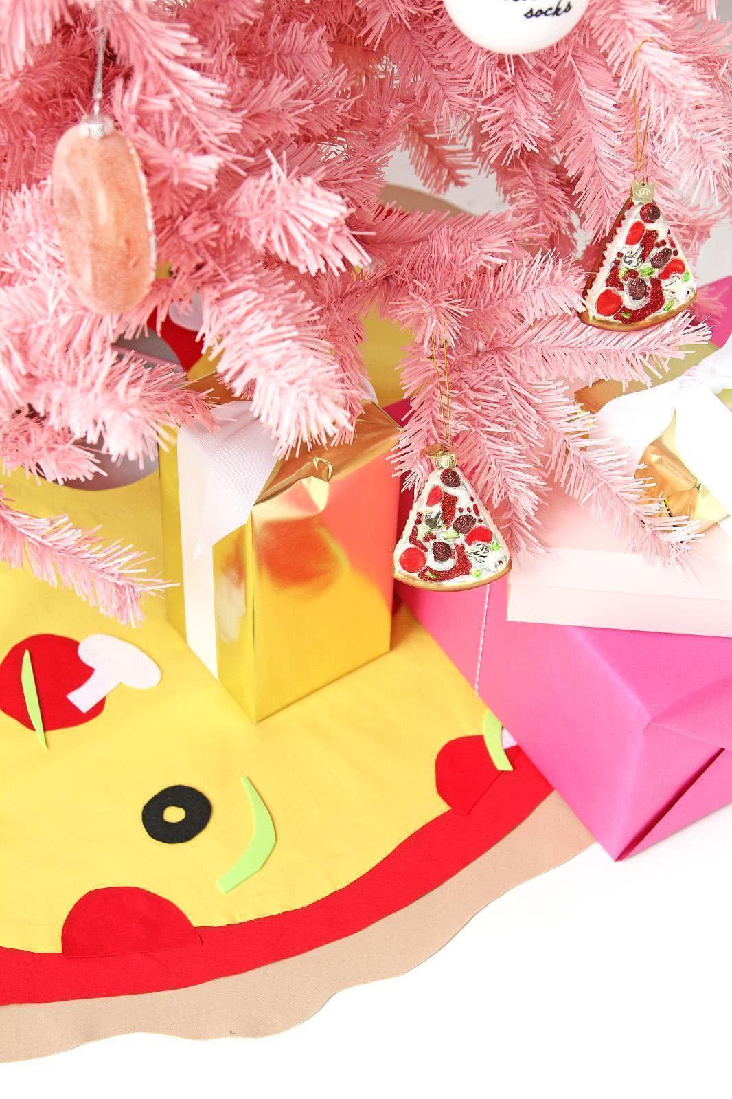 Árvore de Natal com enfeites de doces