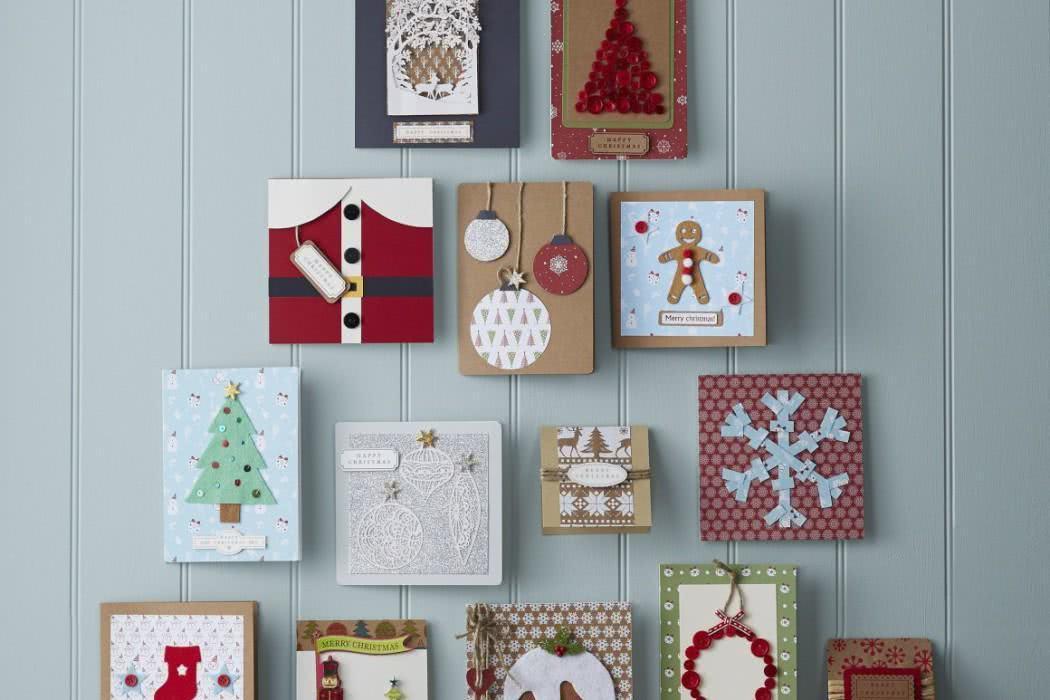 Modelos de caixas e cartões de Natal artesanal