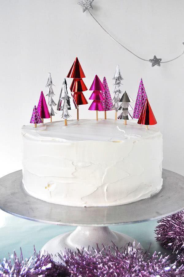 Modelo simples de bolo para o Natal.