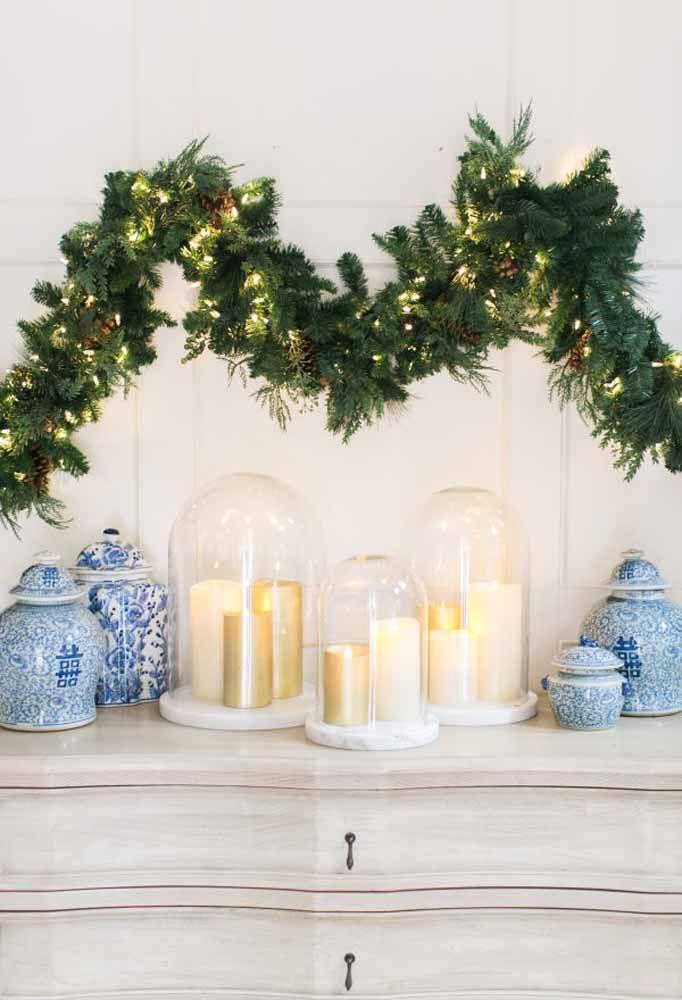 Mesa montada estilo ao luz de velas