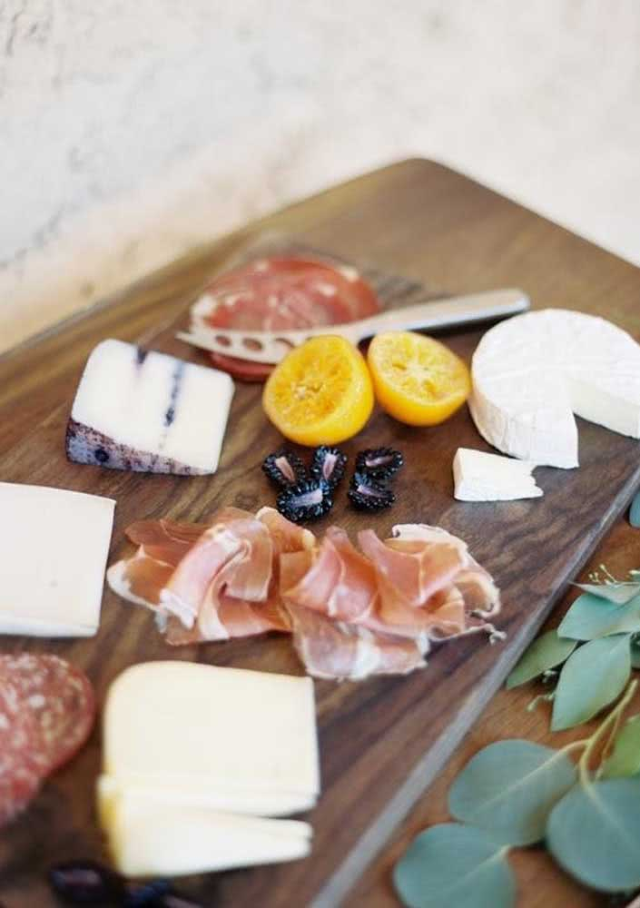 Simple cold cuts board, but with selected ingredients