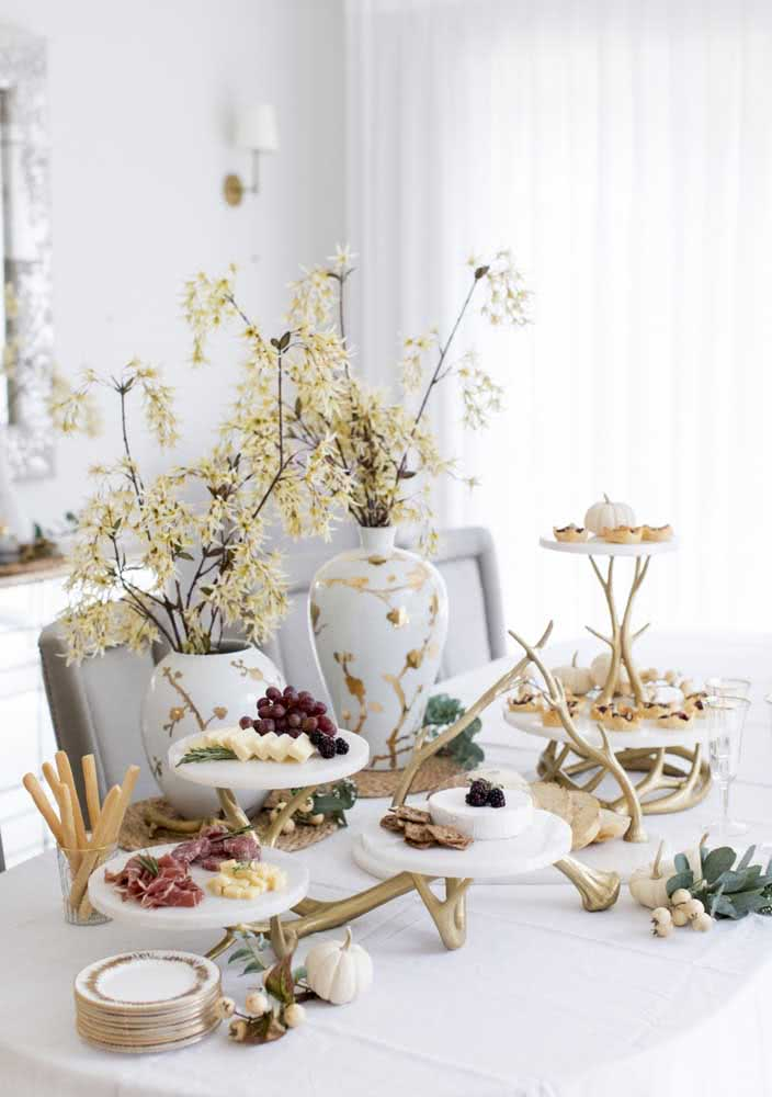 Yes, an elegant reception goes hand in hand with a cold plate
