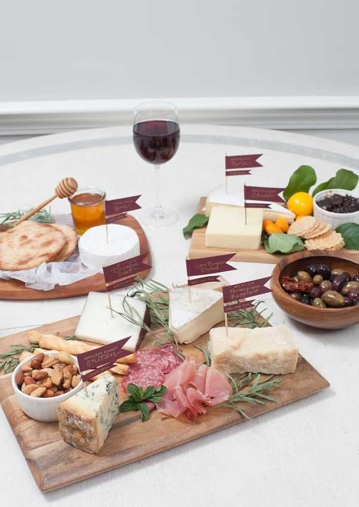 Board of cold cuts with wine!