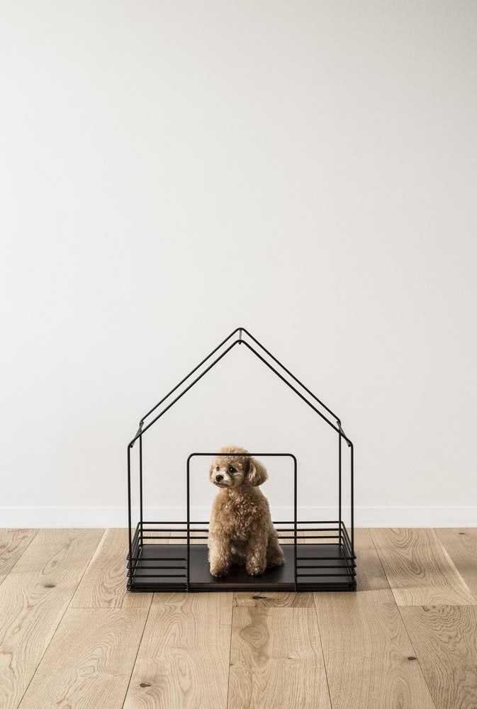 Que tal um modelo vazado? Essa casinha é válida só para dentro de casa