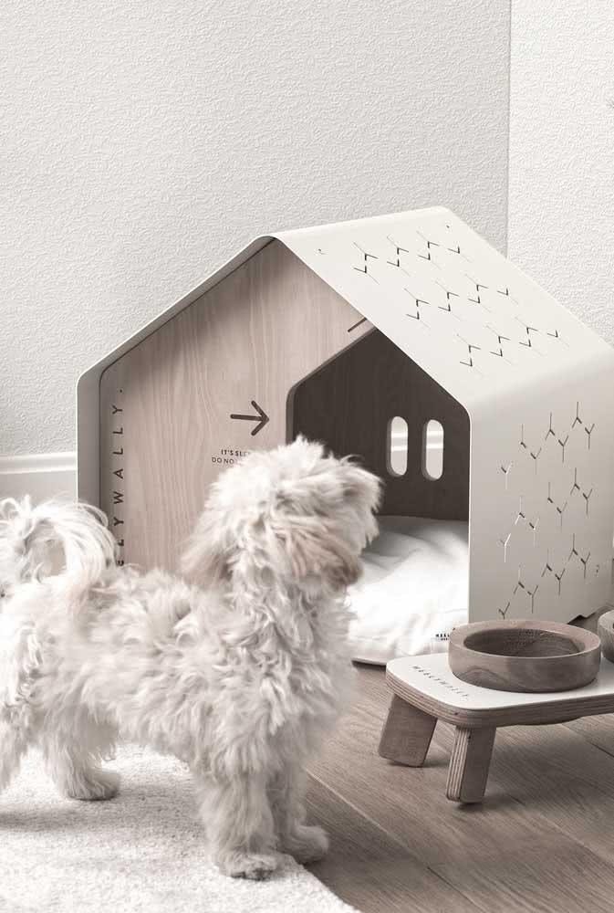 Casinha de cachorro moderna e com um telhadinho pra lá de especial