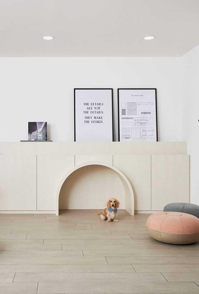 Uma casinha de cachorro elegante para uma casa elegante