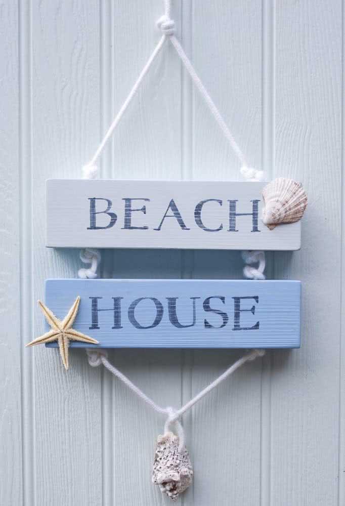 Um mimo para a porta de entrada da casa de praia