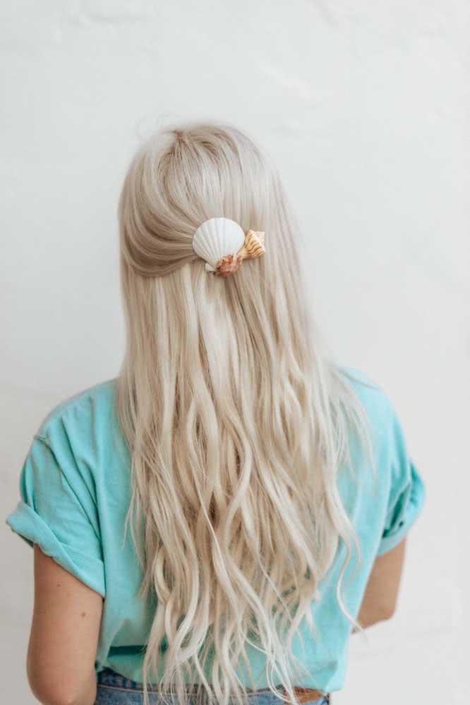 Conchas do mar para ficar com cabelos de sereia