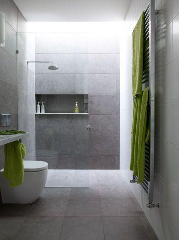 The niche follows the dimension of porcelain tiles.