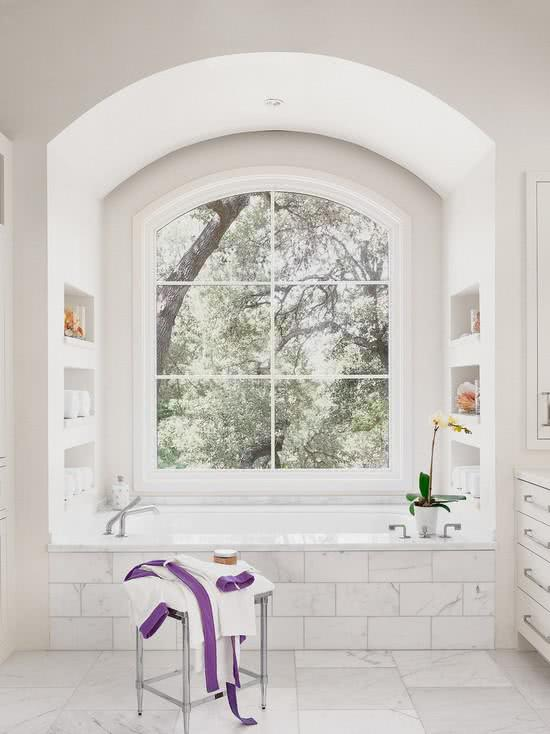 Bathtub in the window