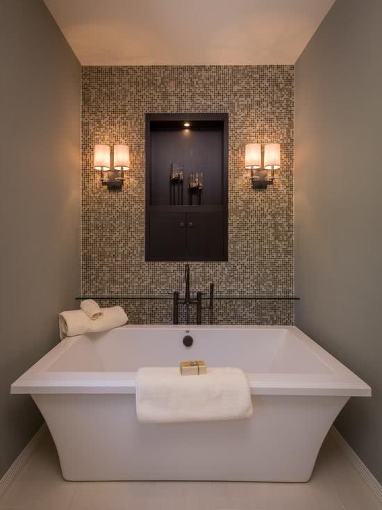 Square bathtub in small space