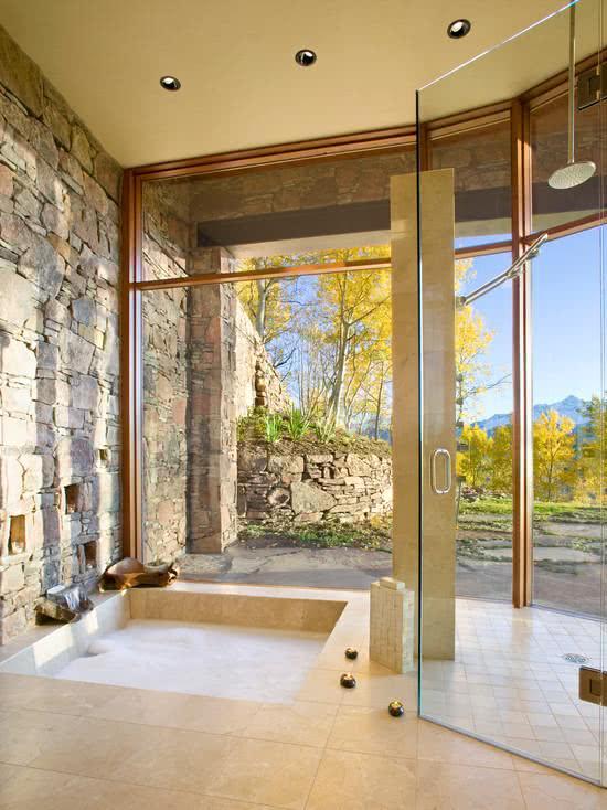 Small masonry bathtub