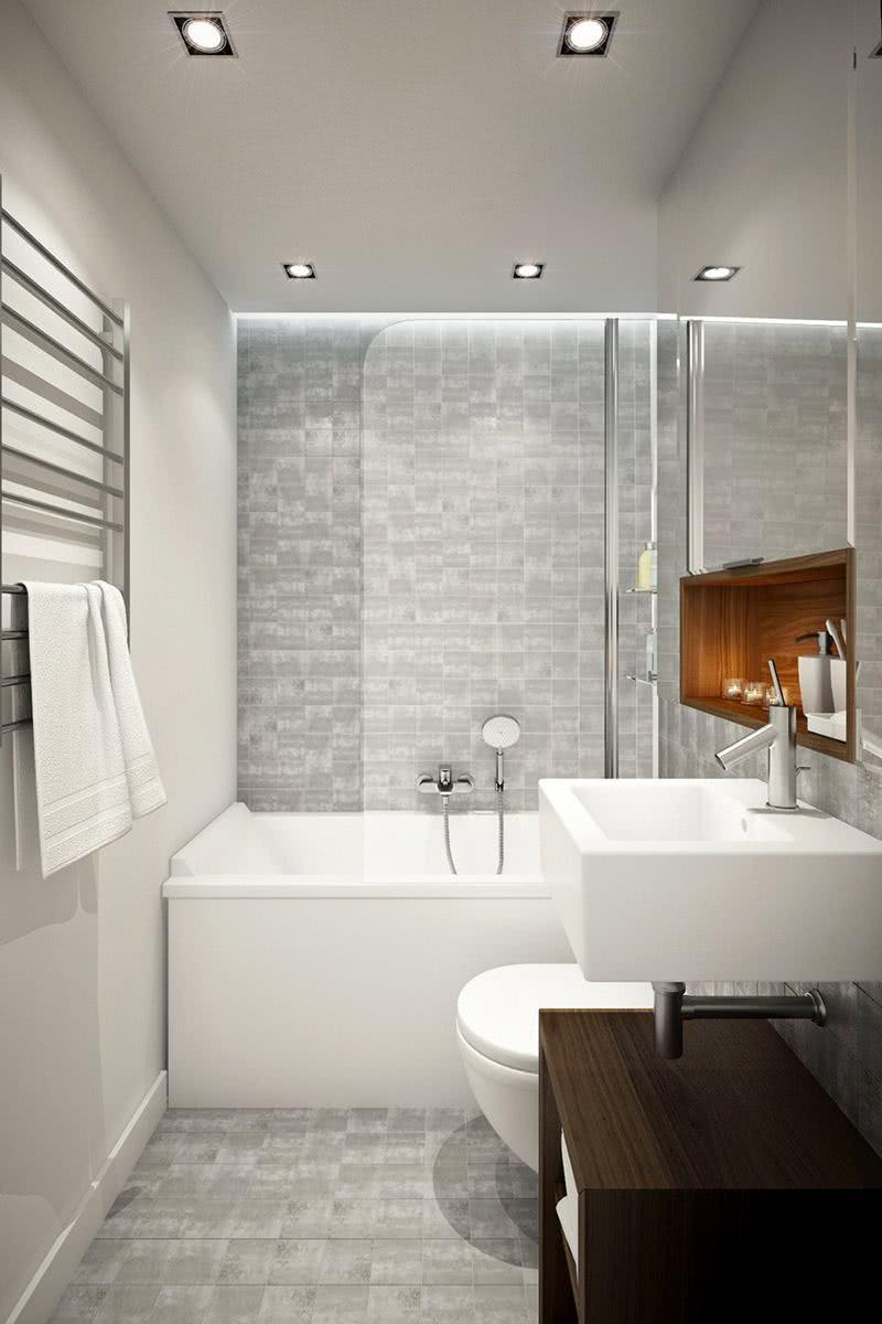 Bathroom with small bathtub