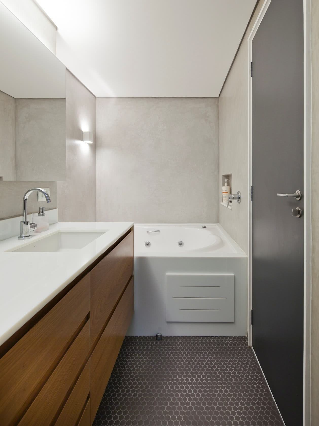 Prioritize the bathroom space with a large and comfortable area