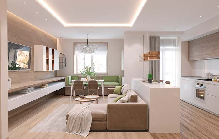 Plaster lowering: Moldings give elegance and charm to the environment