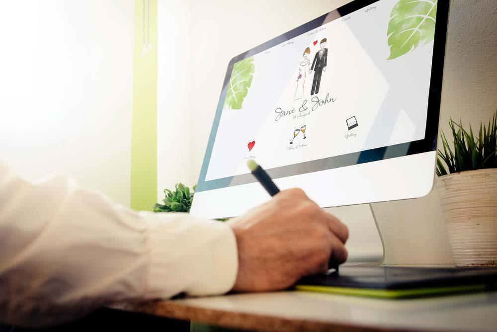 wedding website concept