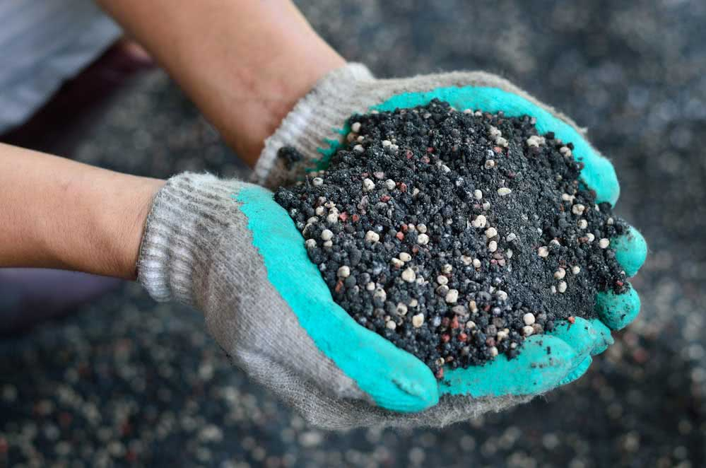 Compost with coffee grounds