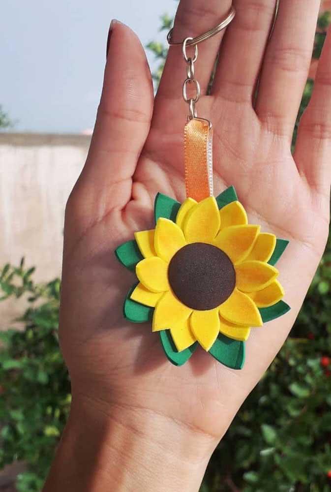 EVA sunflower key chain: great souvenir option