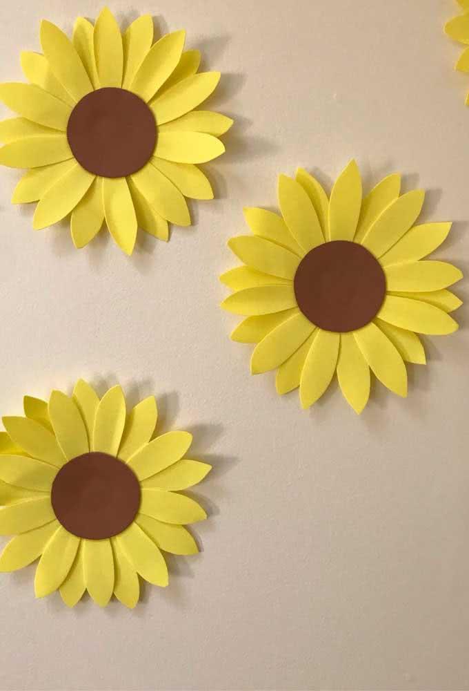 Simple and easy to make EVA sunflower flower
