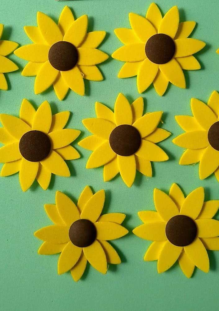 Petal by petal and the EVA sunflower takes shape