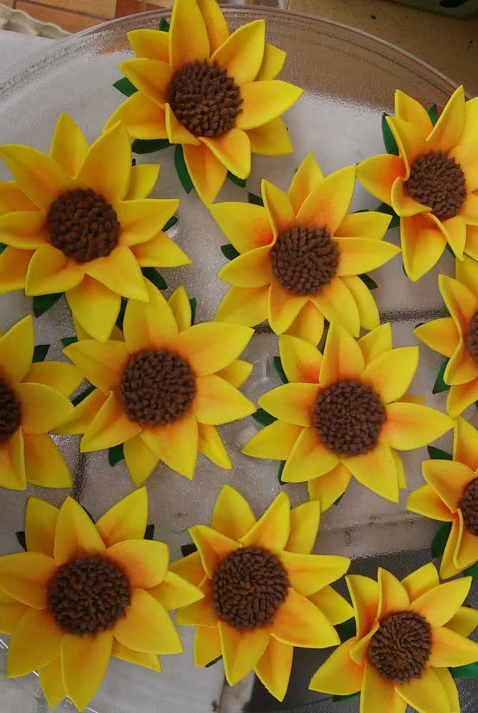 EVA sunflower panel to decorate a theme party