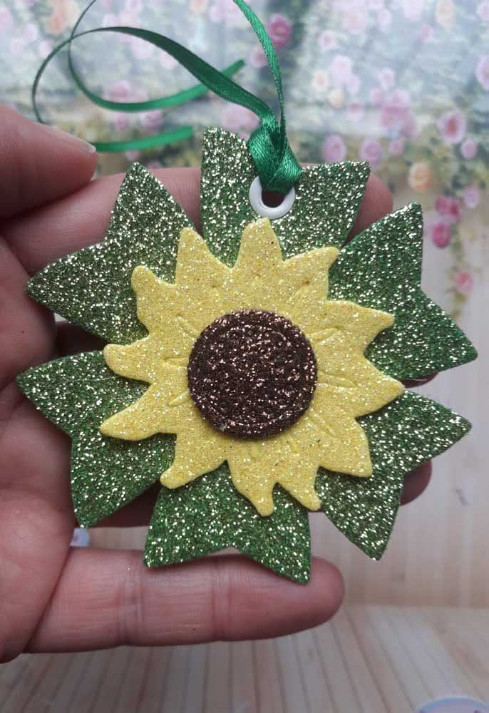 EVA sunflower with glitter not to miss the decoration, literally