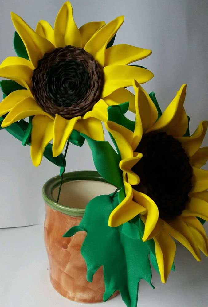 EVA sunflower arrangement to decorate the house or whatever else you want