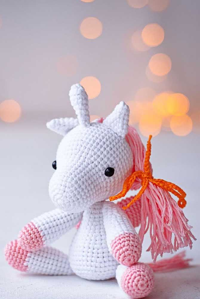 How about a mini version of the unicorn amigurumi?