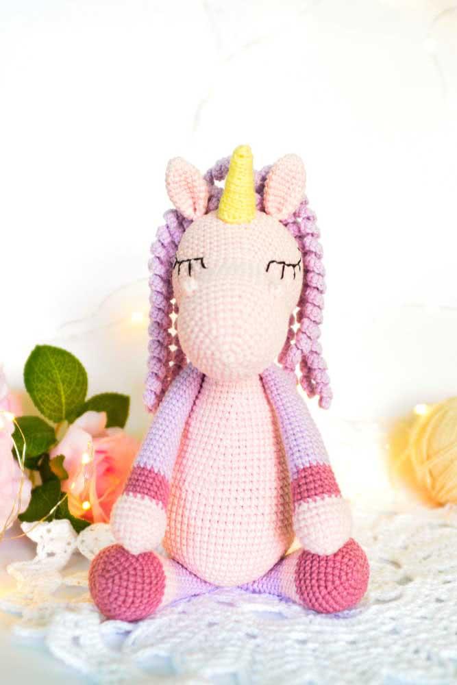 Unicorn amigurumi.  A beautiful gift option