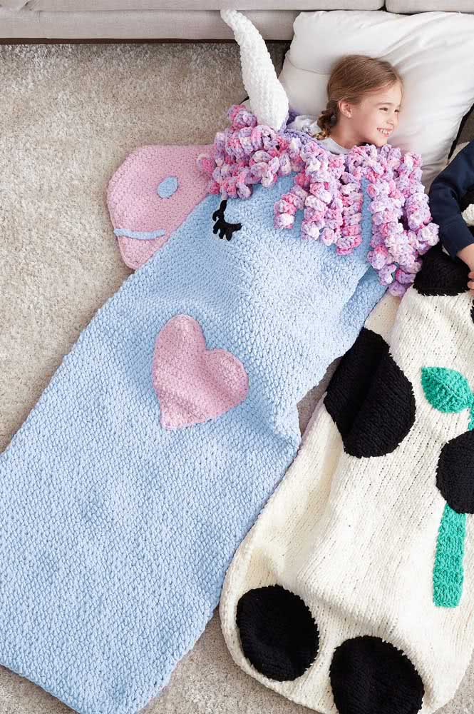A crochet unicorn perfect for sleeping!