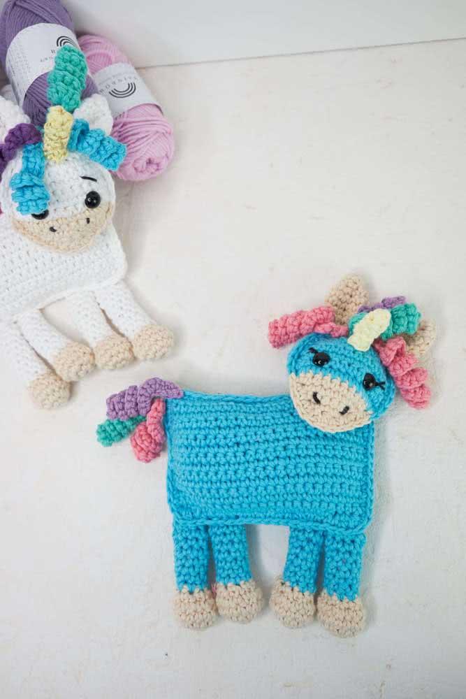 Cute crochet unicorn to give to children