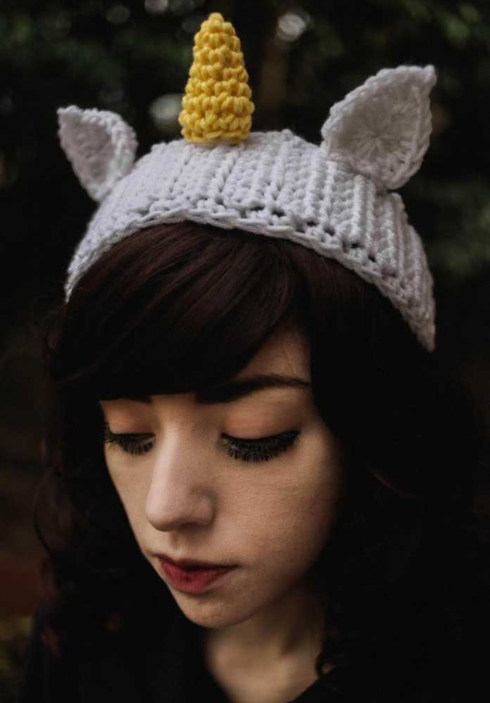 A little more sober cap, but still a unicorn
