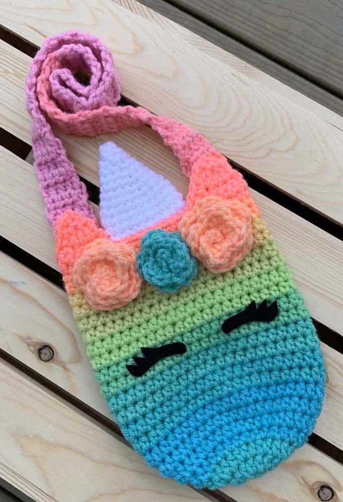 Gradient shades for the crochet unicorn purse