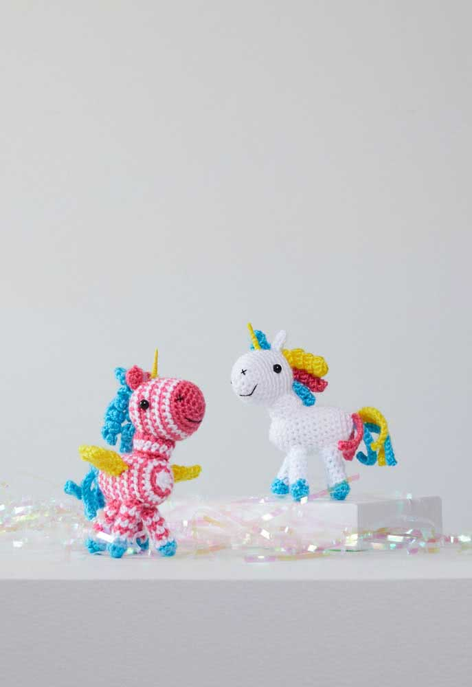 Unleash your imagination and create crochet unicorns in a wide variety of colors