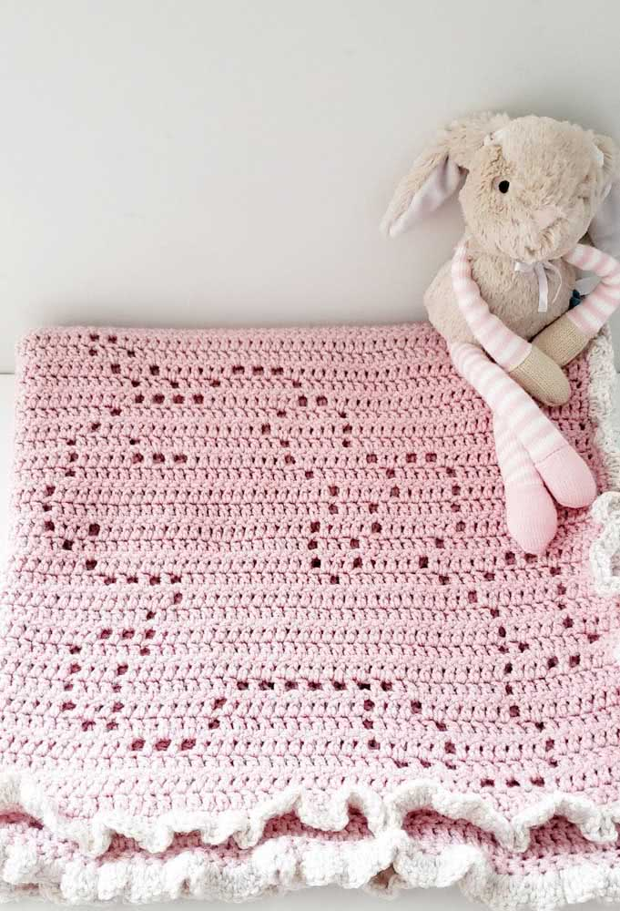 Unicorn rug with hollow design: simple and beautiful