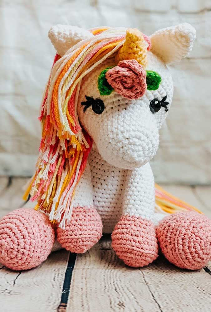 With a little training and dedication you can make a unicorn amigurumi just like this one