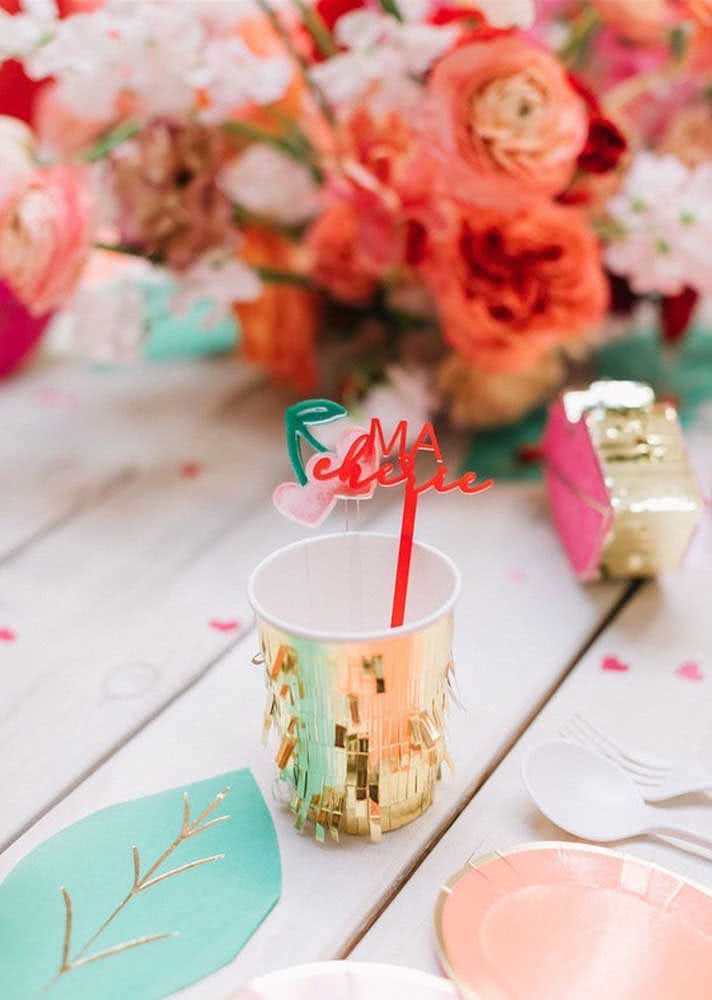 The charming detail is up to the cup and straw