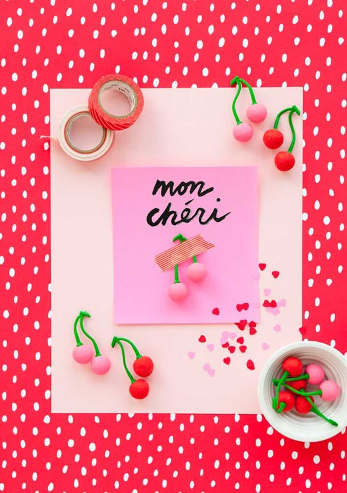 Handmade cherry party invitation: delicate and personalized
