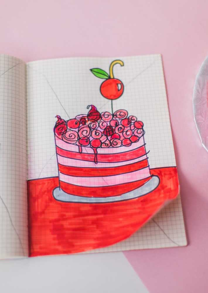 How about a sketch on paper before you bake the real cake?