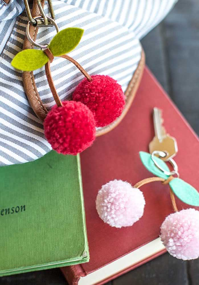 Cherry keyring.  A simple and charming idea
