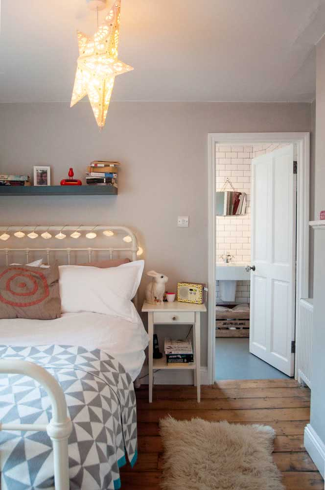 How about a clothesline wrapped around the headboard?