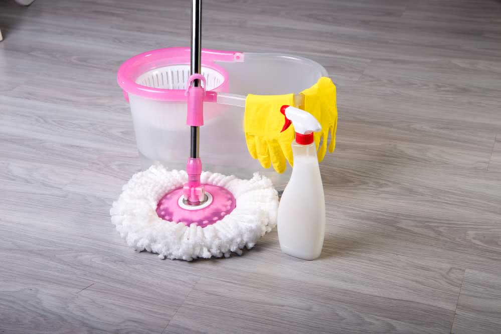 A good mixture for mopping the floor
